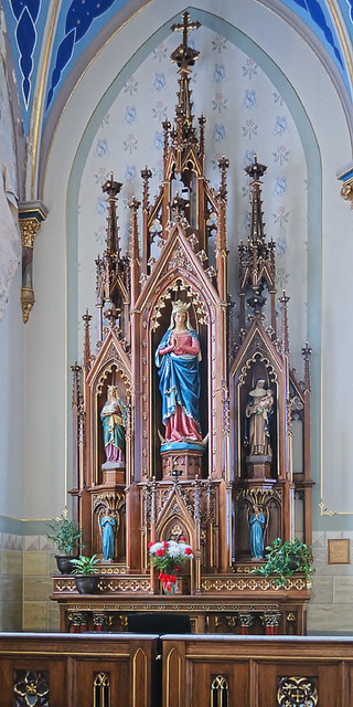 Saint Peter Roman Catholic Church, in Jefferson City, Missouri, USA - altar of the Blessed Virgin Mary