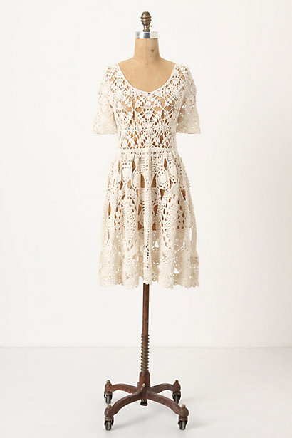 Hand-Crocheted Mini-Dress