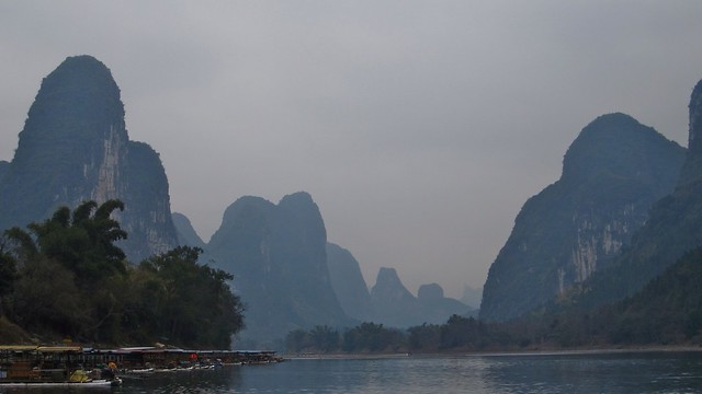 along the Li River, between Guilin and Yangshuo