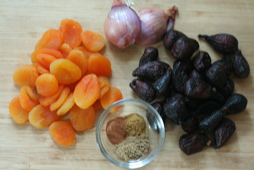spiced fig and apricot charoset