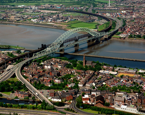 Aerial Runcorn Bridge - 1992