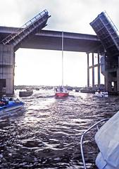Highway 146 Bridges over Clear Creek, Kemah, Texas, May, 1985