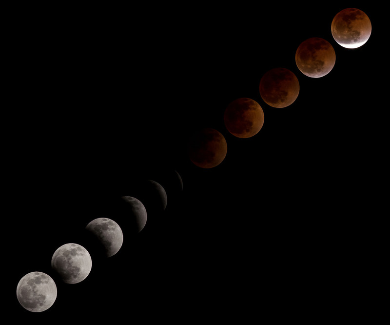 Total Lunar Eclipse Over NASA's Johnson Space Center
