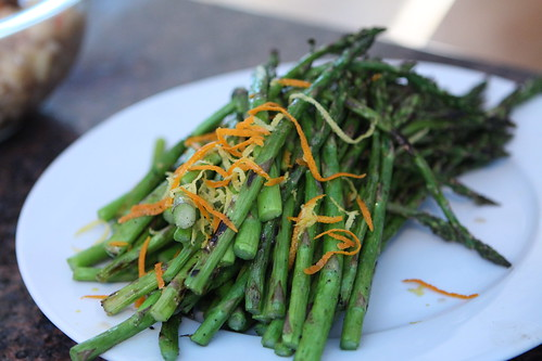 Grilled Asparagus with Lemon and Orange Zest