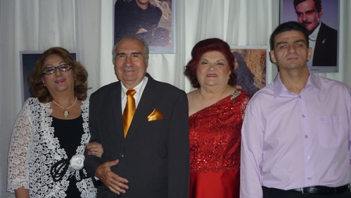 Betania Conrado, Raul e Laura Loureiro, e Marcelo Conrado