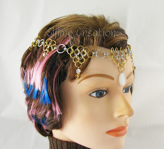 Silver and Gold Chainmaille Circlet