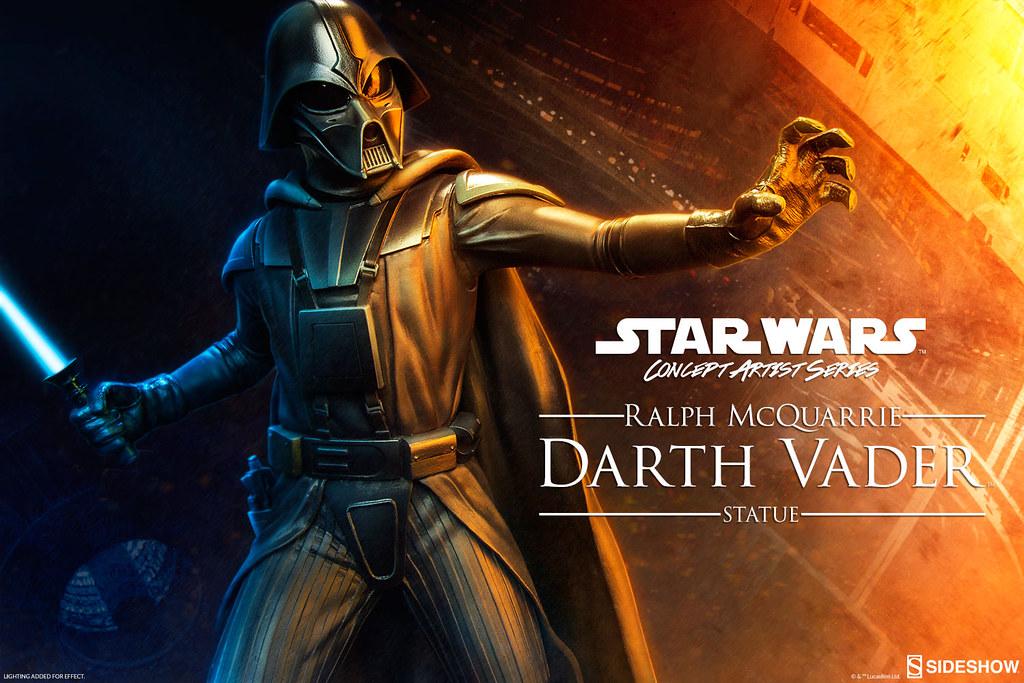 Sideshow Collectibles【黑武士達斯.維德。設計師款】Ralph McQuarrie Darth Vader 1/5 比例 全身雕像