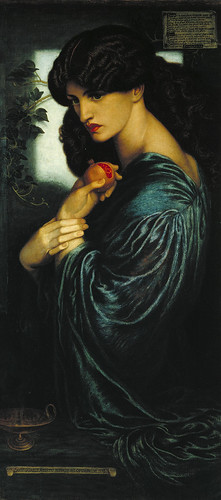 Dante Gabriel Rossetti, Proserpine 1874 (Download high resolution image 2.08 MB)  Dante Gabriel Rossetti 1828-1882 Proserpine 1874 Oil paint on canvas 1251 x 610 mm Tate. Presented by W. Graham Robertson 1940