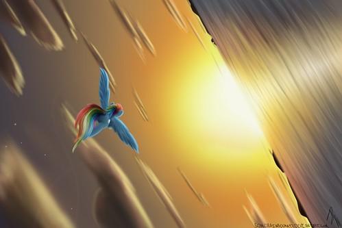 SonicRainboom93 dat_perspective dizzy rainbow_dash