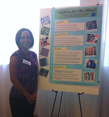 <p>Michele presents Accessible Fashion Research at the ASSETS 2011 Student Research Competition</p>