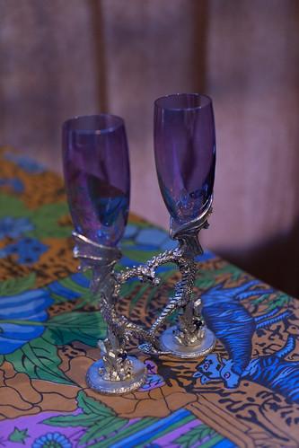 Ceremonial toasting glasses