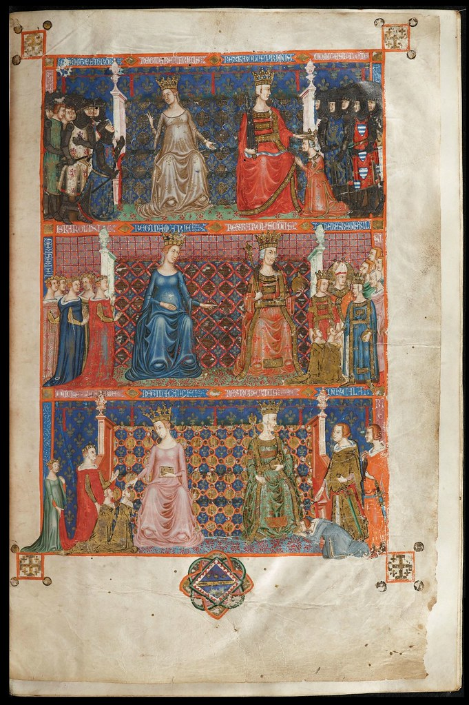 Anjou Bible illuminated manuscript page