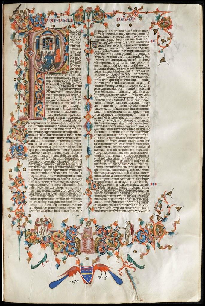 parchment manuscript page (text + decoration)