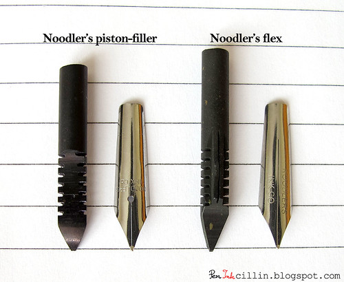 Noodler's Piston-Filler vs Flex nib and feed