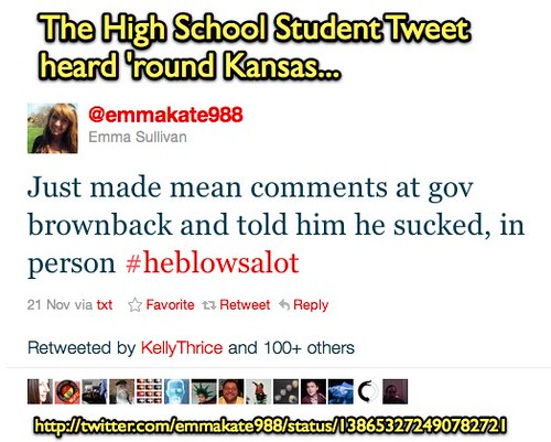 Twitter @emmakate988: A High School Student Tweet Heard Round Kansas