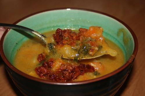yam-kale soup