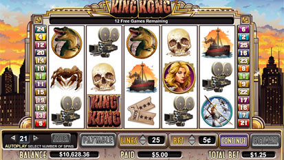 King Kong bonus game