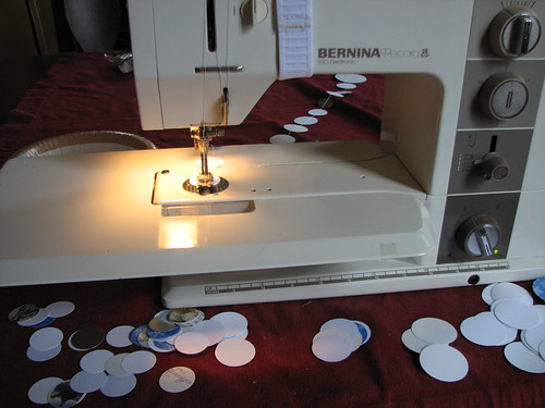 sewing paper garlands