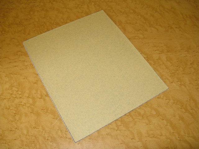 how to make a sandpaper board for quilting