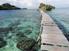 Lange brug naar het vissersdorpje