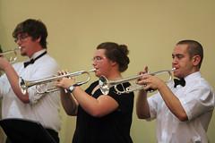 flute(0.0), violinist(0.0), string instrument(0.0), western concert flute(0.0), singing(0.0), violist(0.0), musician(1.0), woodwind instrument(1.0), trumpet(1.0), trombone(1.0), musical ensemble(1.0), music(1.0), brass instrument(1.0), wind instrument(1.0),