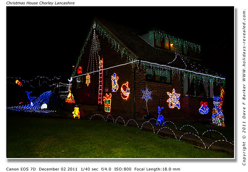 Christmas A House Full Of Colourful Lights Chorley Lancashire by Just Daves Photos