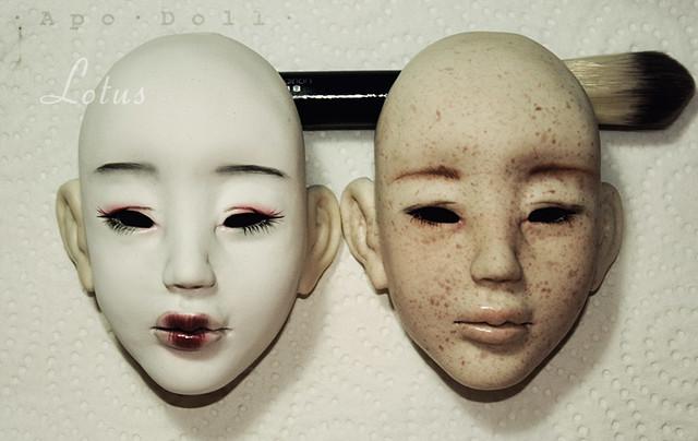 · A p o · D o l l ·   Lotus (1/3 tête asiatique) - Makeup!! 6448124663_3aa17273ce_z