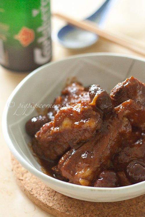 Drunken Ribs with Chestnut 栗子排骨