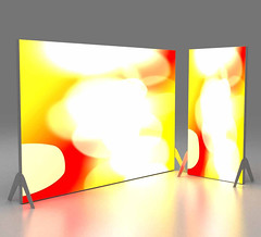 TFS illuminated lightbox freestanding wall