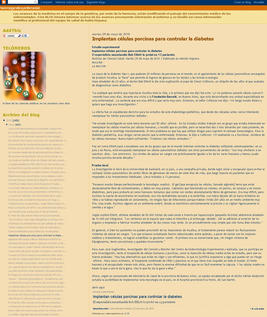 Blog Herencia, genetica y enfermedad 25-5-10