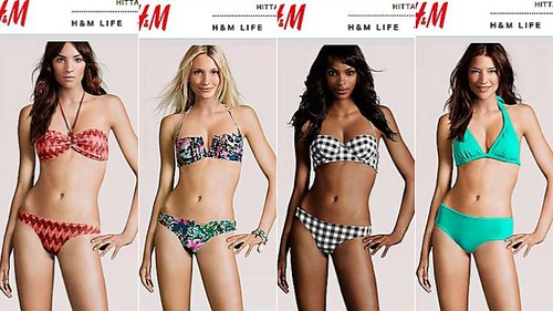 four computer generated lingerie models. All are in the same pose and have the same body, but have different faces and skin colors