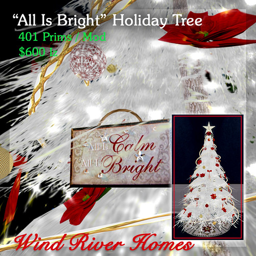 """All Is Bright"" Holiday Tree by Teal Freenote"
