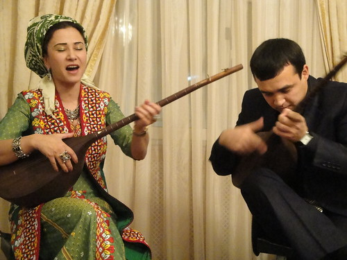 Amazing Turkmen musicians at Susan Thorton's House
