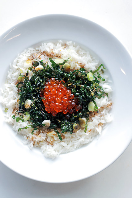 Salmon Caviar, Rice and Crispy Seaweed