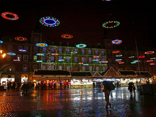 Madrid's Plaza Mayor at Christmas