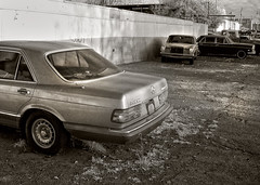 automobile, automotive exterior, executive car, wheel, vehicle, automotive design, mercedes-benz w123, mercedes-benz, monochrome photography, compact car, antique car, sedan, vintage car, land vehicle, monochrome, luxury vehicle, black-and-white,