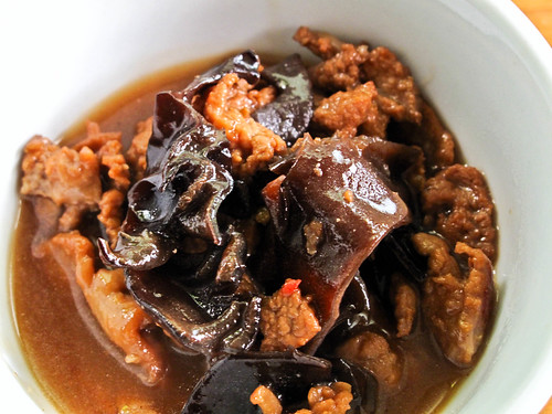 IMG_2124 Braised pork with fermented bean curd Nan Yu  and black fungus ,黑木耳南乳焖猪肉