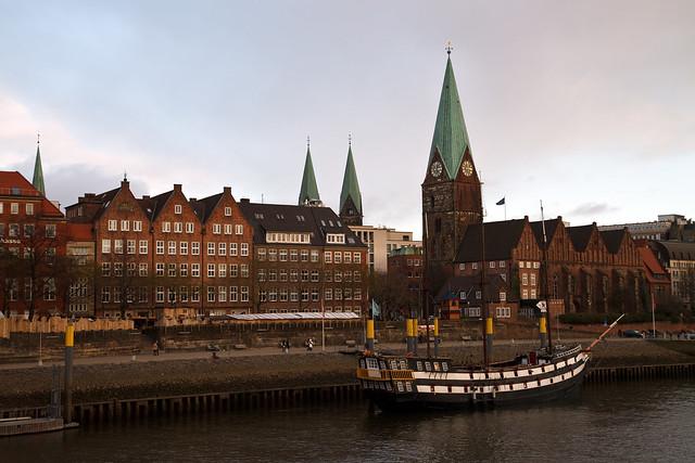 Bremen. Old boat