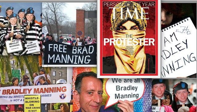 The Protester - Bradley Manning
