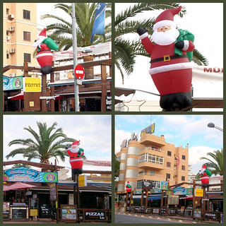Cute Santa Under Palm Tree - Playa de Palma, Mallorca