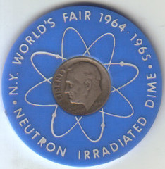 Berger's Irradiated Dime - Obverse