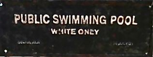 White Only Swimming Pool Sign