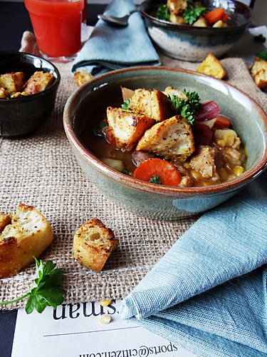 hunters stew // ciabatta croutons