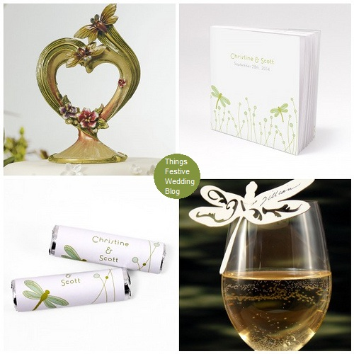Here are some new dragonfly accessories to enhance your dragonfly wedding