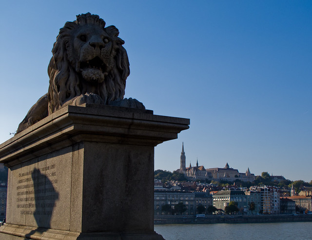 The Lion's Statue on Chain Bridge