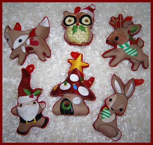 Stuffies!  Woodland Creatures Christmas Ornaments