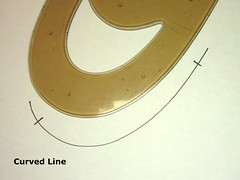 Curved line on paper