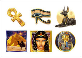 free Cleo Queen of Egypt Slots slot game symbols
