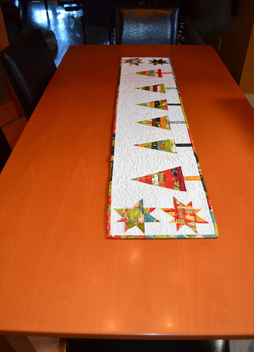 Modern Christmas Table Runner - received from Vicky