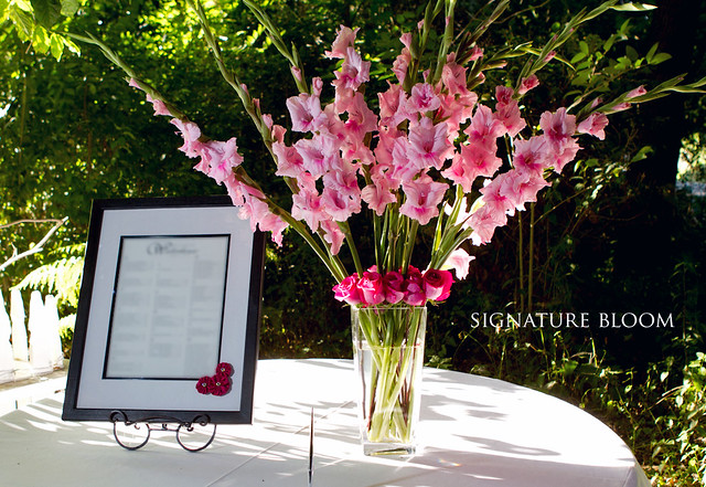 Fremont Flowers for Wedding Sign In Table Arrangements